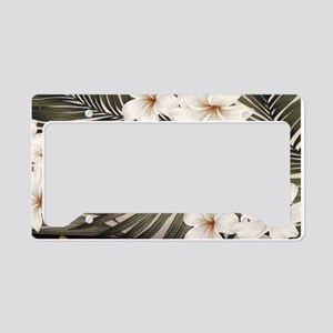 Natural Hawaii Tropical License Plate Holder